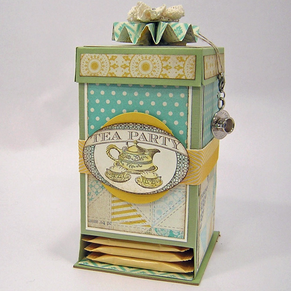 tea bag dispenser box weekly inkling splitcoaststampers. Black Bedroom Furniture Sets. Home Design Ideas