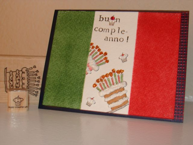 italian loving birthday card front  front zoomed by girlgeek, Birthday card