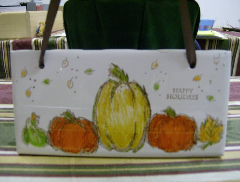 Autumn Harvest On Ceramic Tiles By Whitney1969 At