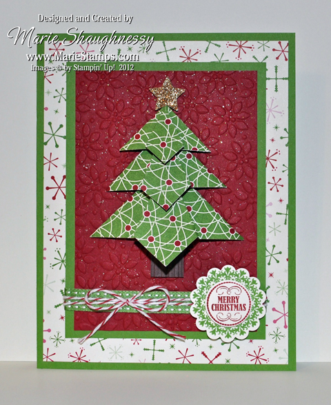Trim the tea bag fold tree by card shark at for How to make folded christmas cards