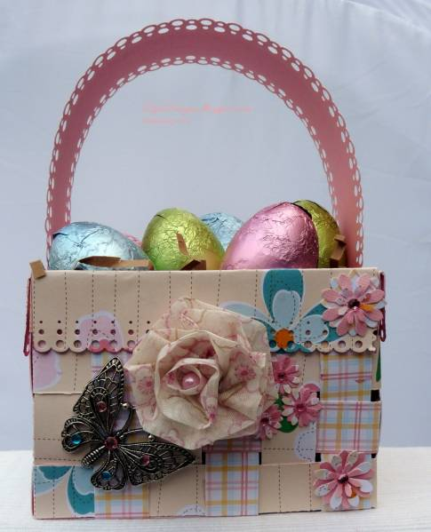How To Make A Woven Easter Basket : Woven easter basket by dips at splitcoaststampers