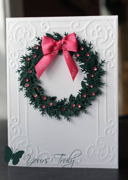 Pink And Green Wreath Yourstruly Splitcoaststampers