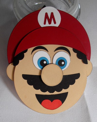 Mario 39 s head by dihere at splitcoaststampers for Crafts for 6 year old boy
