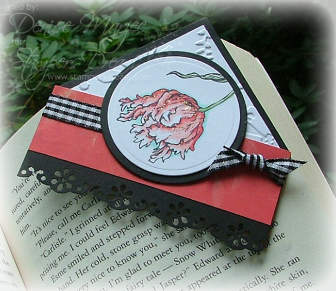 vampire corner bookmark craftin upcycled junk mail to book marks 3177