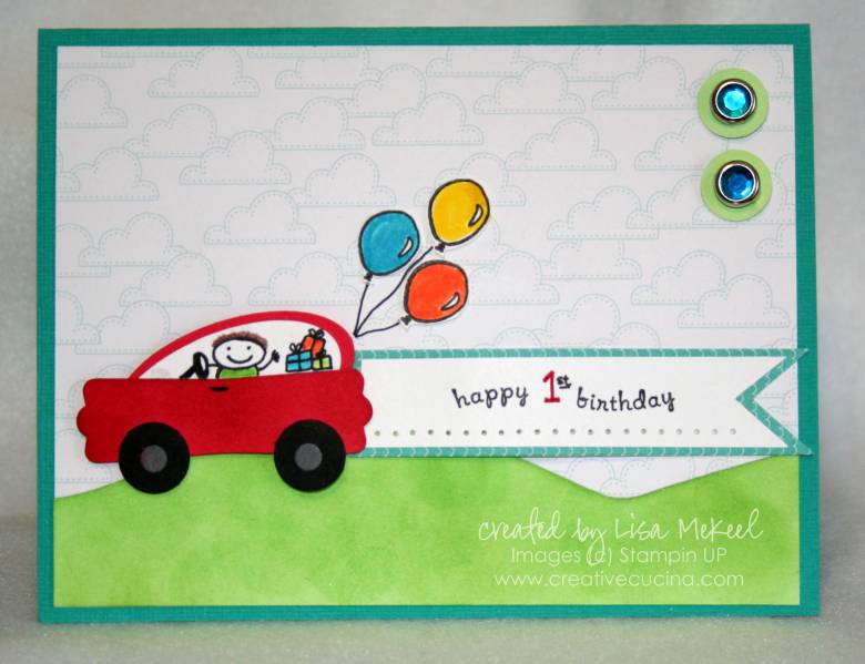 Punch Art Car Birthday Card By Lisalisella