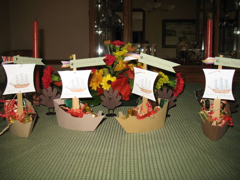 Thanksgiving Table Favors By Stamphabit At