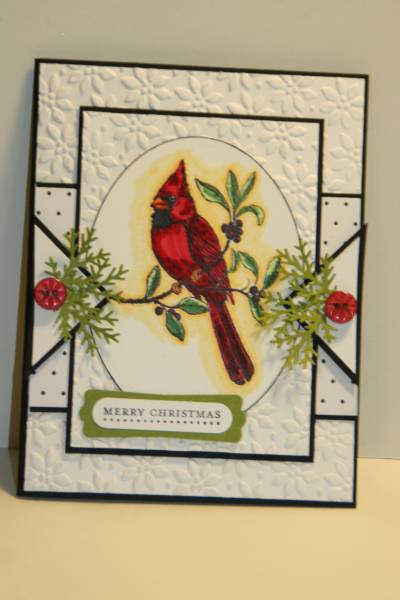 sc253 a cardinal christmas card by sn0wflakes