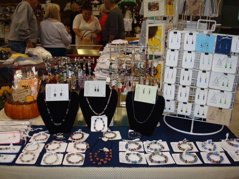 2009 craft show jewelry display by dhb1281 at for Display necklaces craft fair