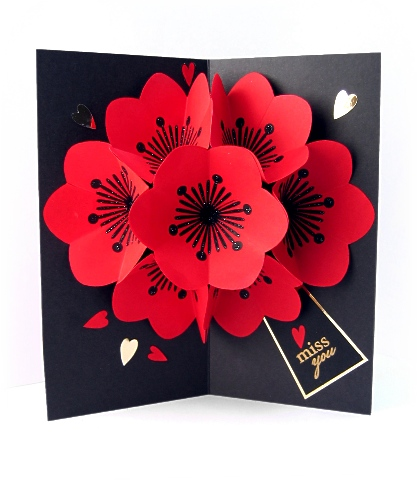 Pop up card flowers by magic boxes at splitcoaststampers mightylinksfo