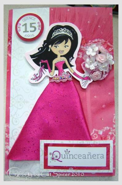 quinceanera card by princelessmn