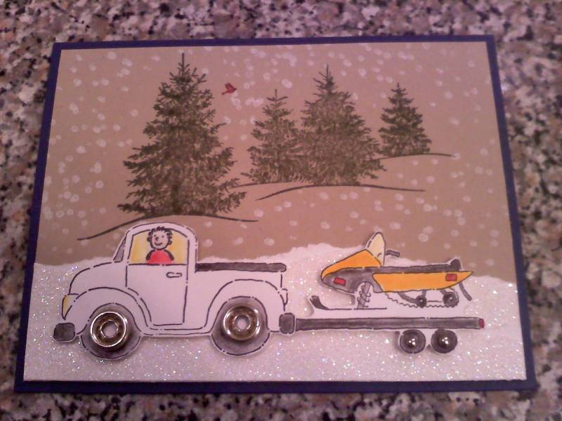 Snowmobile Birthday By Maryeb At Splitcoaststampers