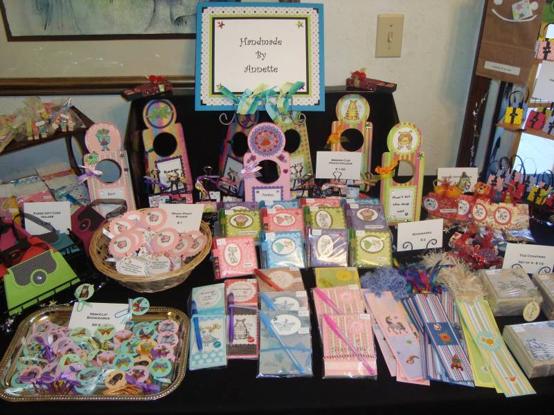 Craft Fair Display By Buggainok At Splitcoaststampers