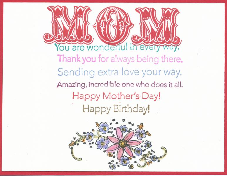 Messages for Mom Index Card by galleryindex - at Splitcoaststampers