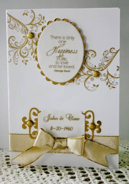 50th wedding anniversary card by HolsteinCards and Paper Crafts at ...