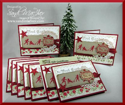 Gift Certificate Christmas Card Holders By Sandimac At