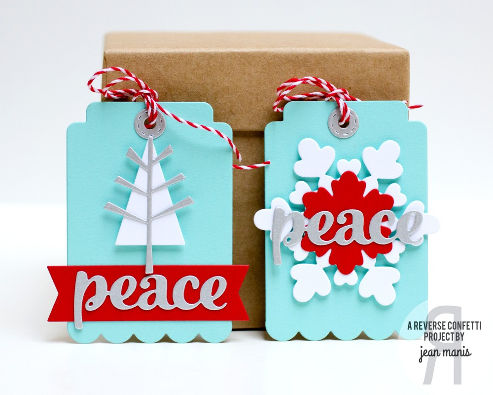 Jean Manis Reverse Confetti Holiday Tags