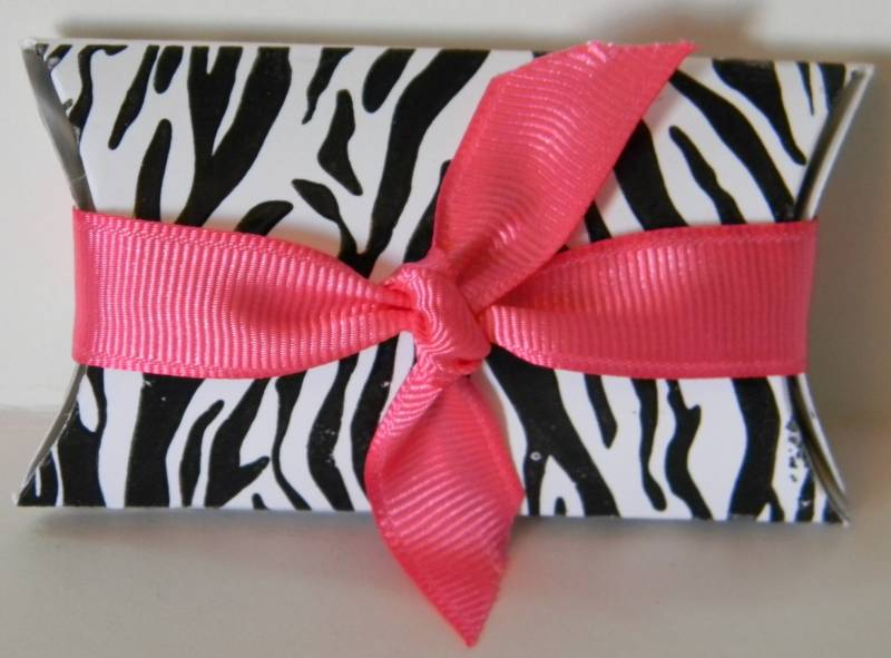 Zebra Print Pillow Box by LDHill - at Splitcoaststampers