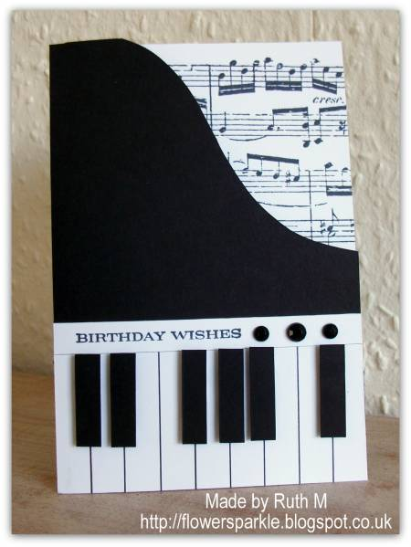 piano shaped birthday card by fubsyruth