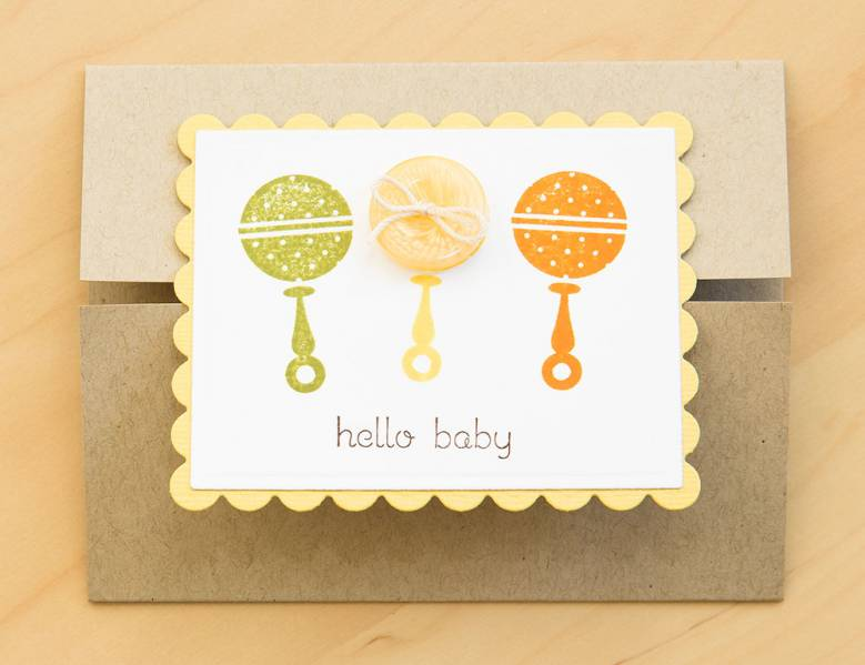 baby shower congratulations card by silke shimazu cards and paper