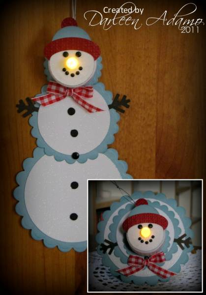 Snowman Tea Light Telescoping Card by darleenstamps at