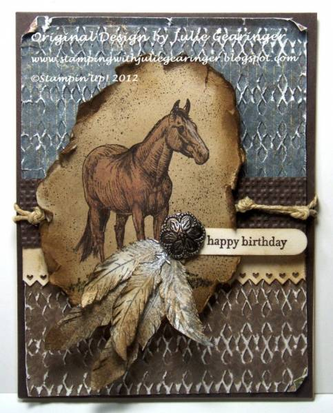 Feathered Frontier By Julie Gearinger At Splitcoaststampers