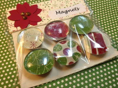 Christmas Magnets using Stampin Up DSP by laura513 at #1: magnets2 by laura513