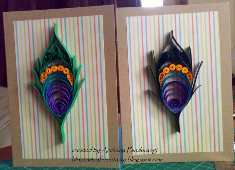 Splitcoaststampers Quilled Peacock feathers
