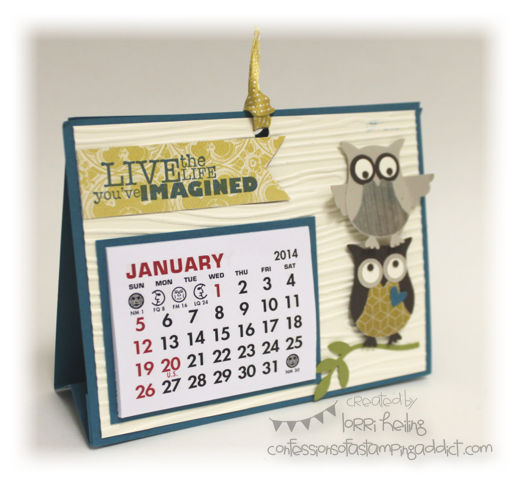 Calendar Craft Projects : Calendar by lorriheiling at splitcoaststampers