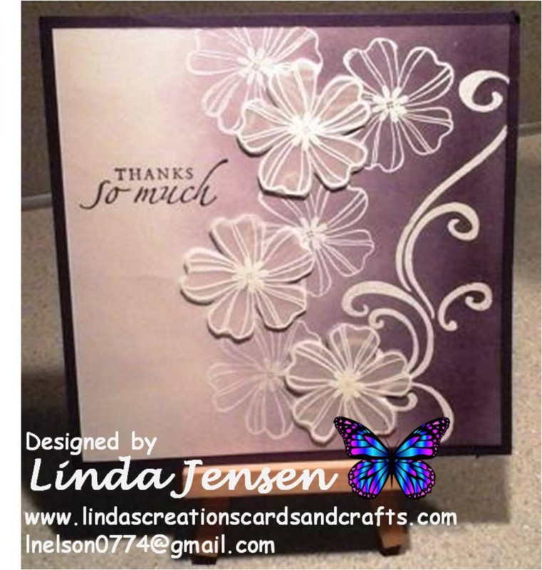 Purple Ombre Flower Shop Thank You Card By Lnelson74