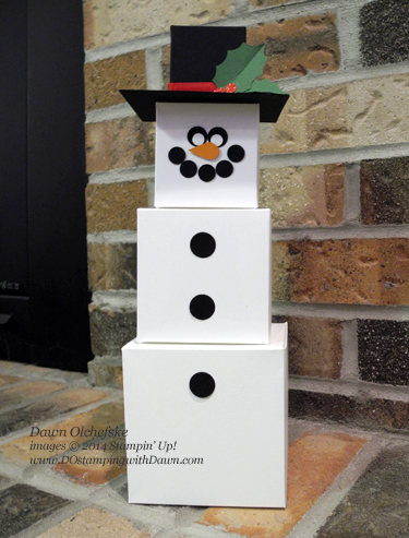 Gift Box Punch Board Snowman By Dostamping At