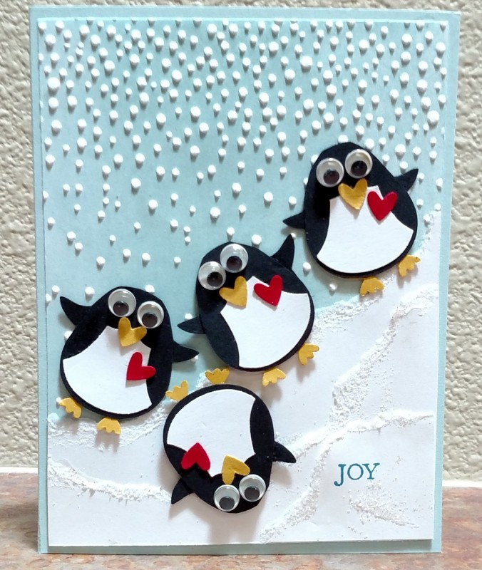 Penguins card by Splitcoast stampers
