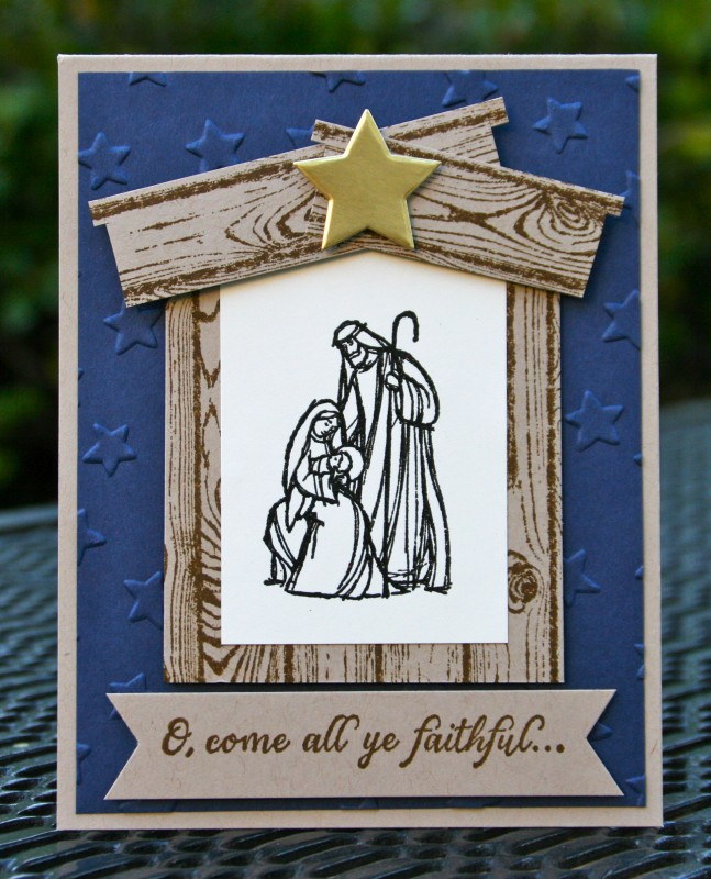 Stampin' Up! All Ye Faithful Night By Skdeleeuw
