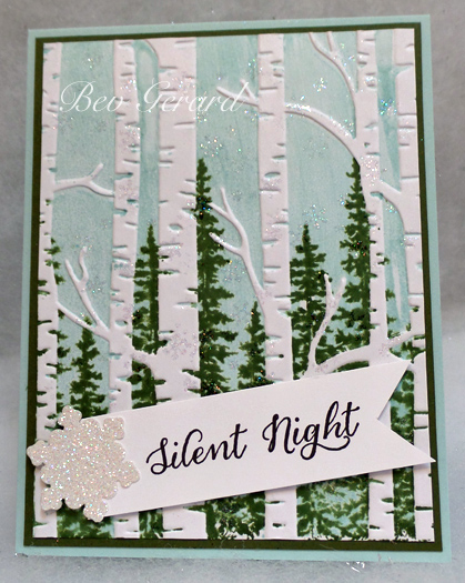 A Woodsy Silent Night By Texasgrammy At Splitcoaststampers