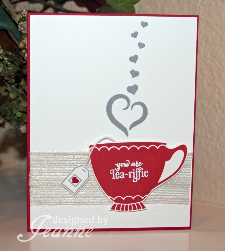 Tea riffic valentine by penny627 at splitcoaststampers for Designs for valentine cards