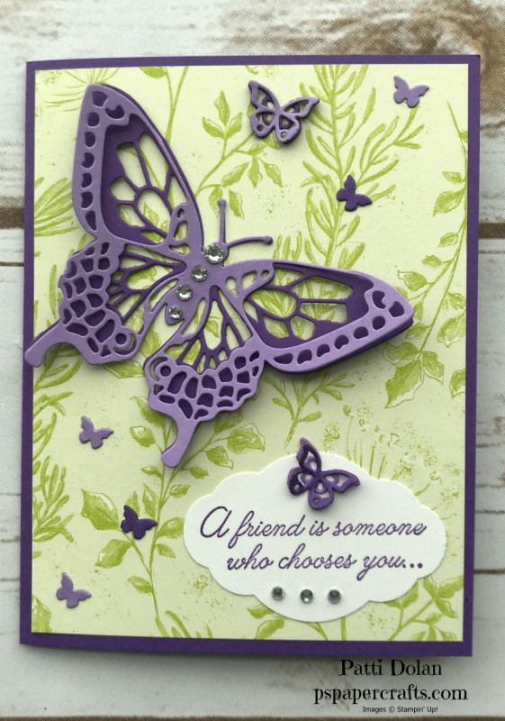 Beauty Abounds Butterfly Card By Pspapercrafts At