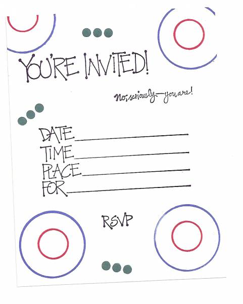 Simple Birthday Invitation by Sandy Weakley Cards and Paper – Make Birthday Invitations