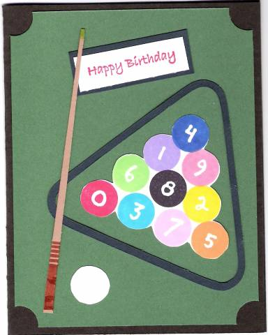 Billiard Birthday By Stampoholicsunanimous At