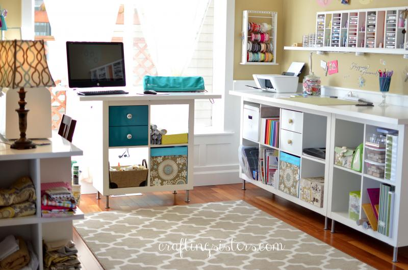 Craft Room Makeovers: Craft Room Makeover For $15 By Craftingsisters