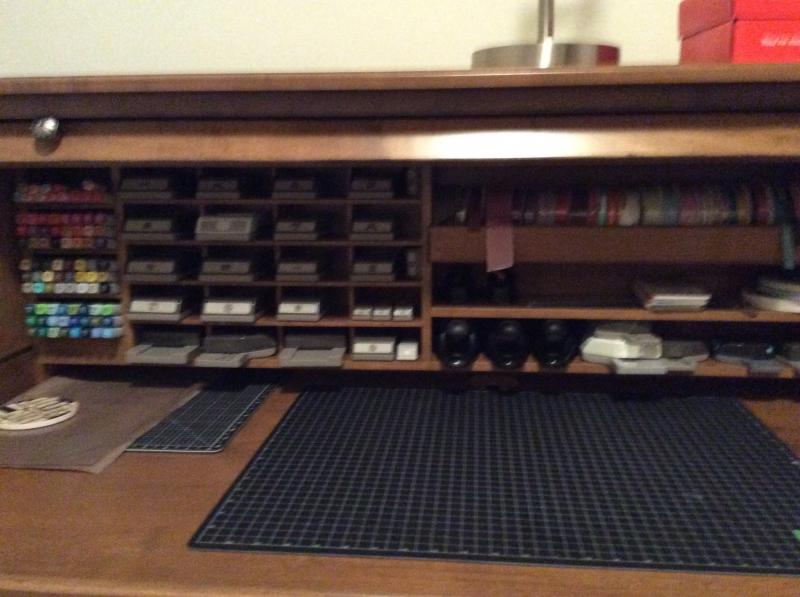 Stamp N Storage Roll Top Desk Opened By Michelleh38 At