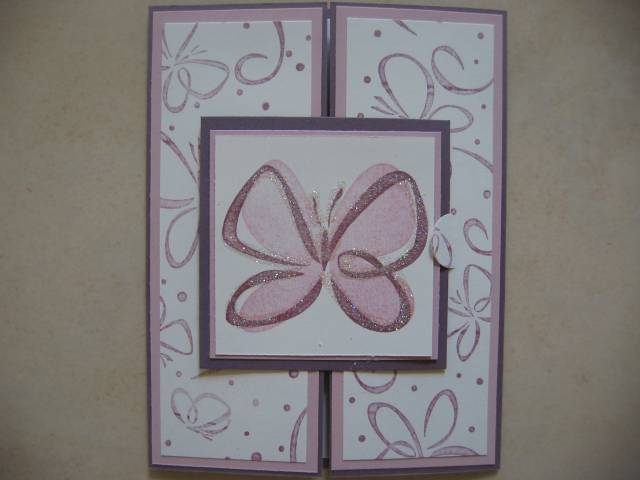 Su Bold Butterfly Tri Fold Card By Stamp N Scrap Mom - Cards And