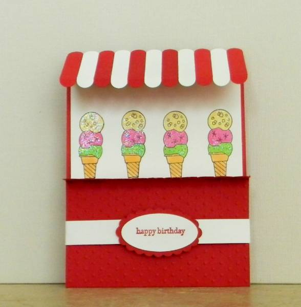 Ice Cream Awning Card By Fishymom At Splitcoaststampers