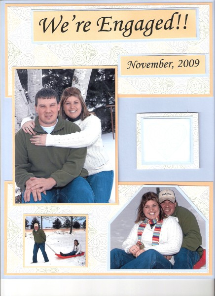 Engagement Scrapbook Page Ce By Budy98 At Splitcoaststampers