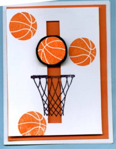 Spinning basketball by motherof6 at splitcoaststampers for Basketball craft party ideas