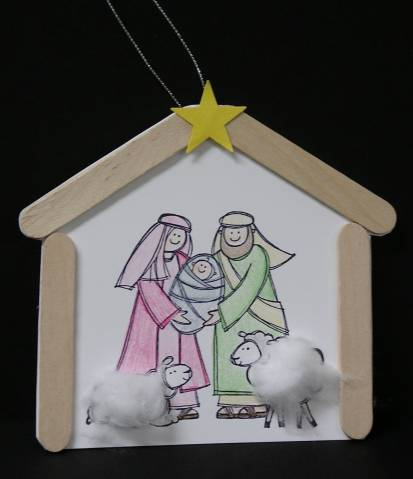Ornament to make with pathfinders by scrapenkaren at for Nativity crafts to make