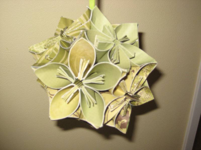 3d origami flower ball by kirstie waters at splitcoaststampers 3d origami flower ball mightylinksfo