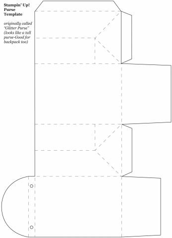 Tall purse Box or Backpack template (JPG) by stampztoomuch