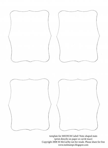 Label Note Template Medium Rectangle By Stampztoomuch