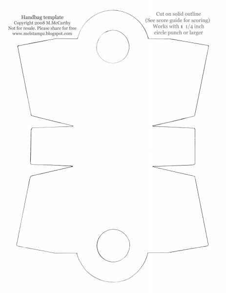 Templates for Bucket Handbag (no score lines) by