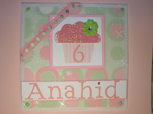 Birthday Card for 6 Year old girl by Scary Cheri Cards and Paper – 6 Year Old Birthday Card