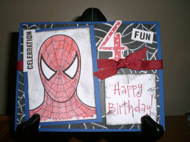 spiderman birthday card by blessedbyboys  cards and paper crafts, Birthday card